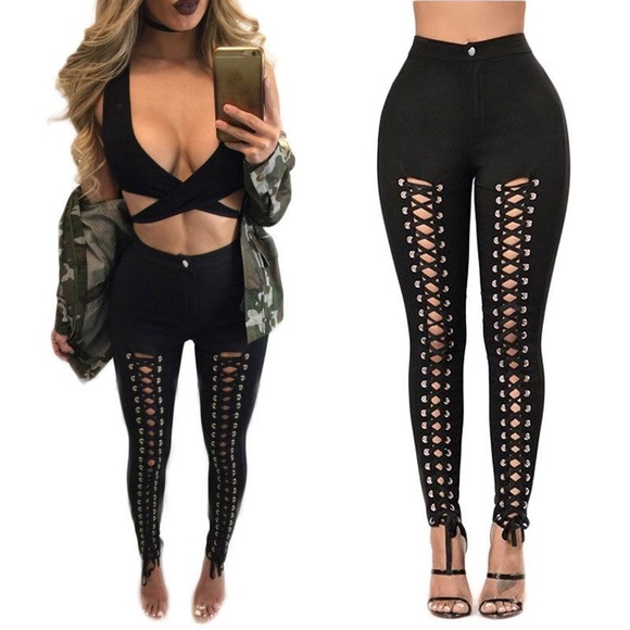 86e60bb276e NEW! Lace-up Leggings Boutique